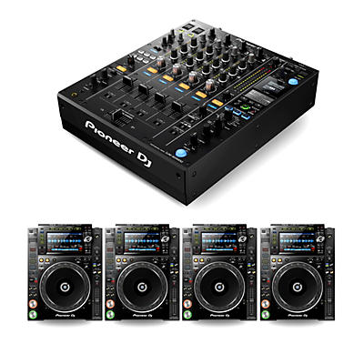 Pioneer DJ Package with DJM-900NXS2 Mixer and 4 CDJ-2000NXS2 Media Players