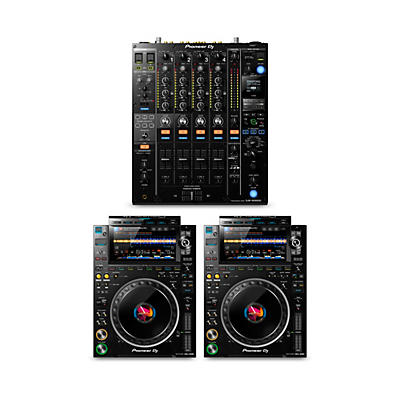 Pioneer DJ Package with DJM-900NXS2 Mixer and CDJ-3000 Media Players