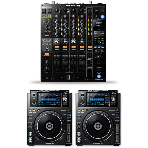 Pioneer DJ Package with DJM-900NXS2 Mixer and XDJ-1000MKII Media Players