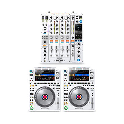 Pioneer DJ Package with DJM-900NXS2-W Mixer and CDJ-3000 Media Players