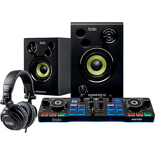 Hercules DJ DJ Starter Kit with Controller, Speakers and Headphones