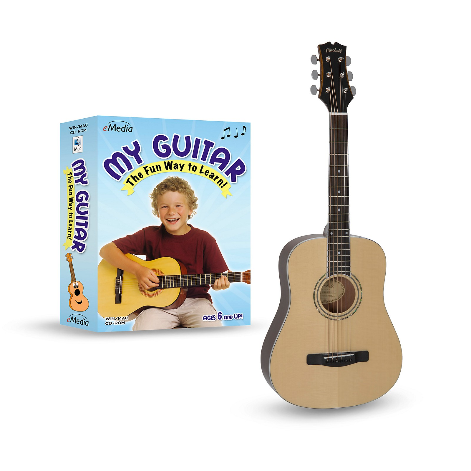 Mitchell DJ120 Learn-To-Play 3/4 Size Acoustic Guitar Bundle