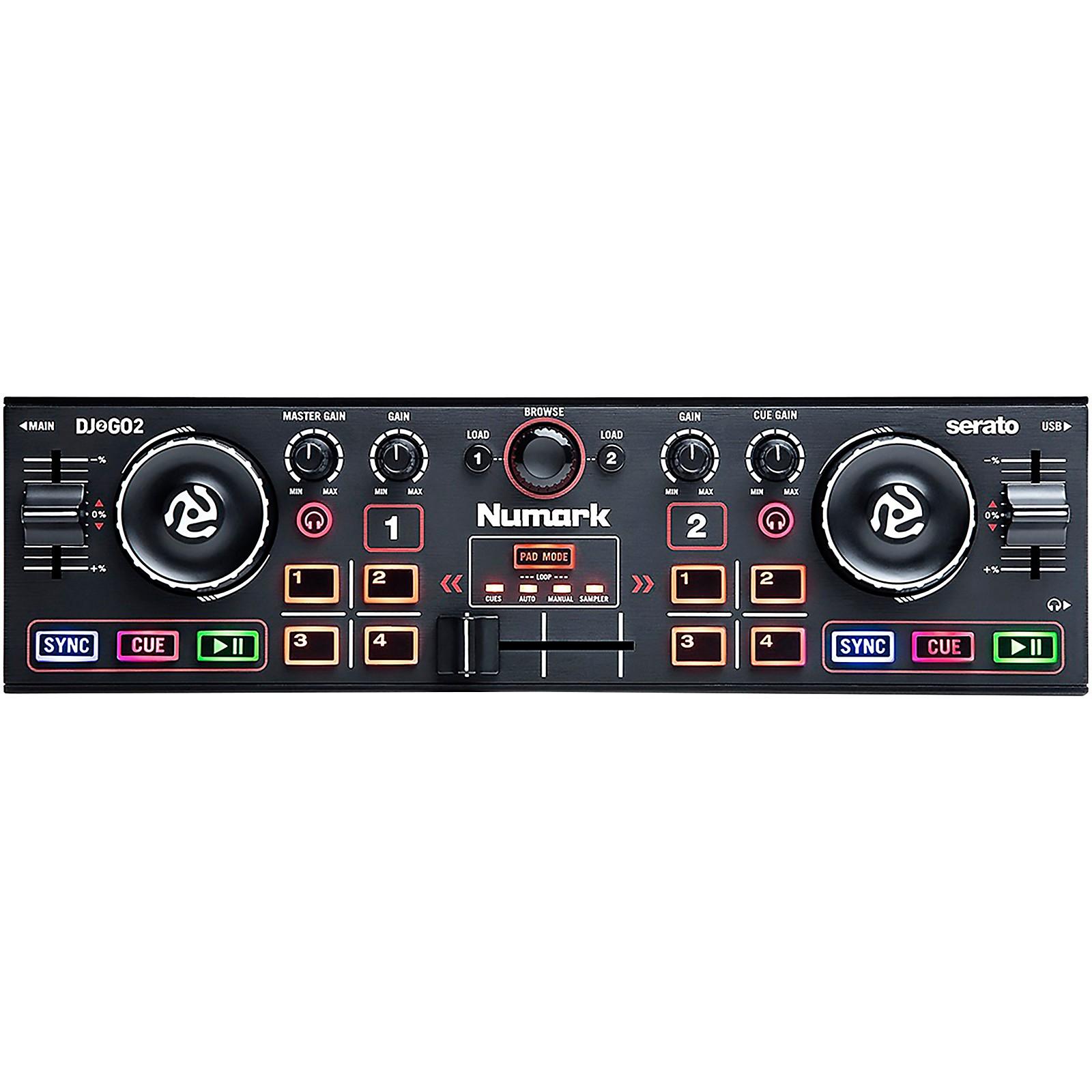 Numark DJ2GO2 Compact Portable Serato DJ Controller with Audio Interface