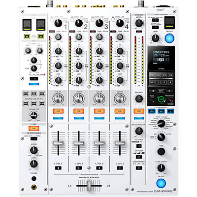 Pioneer DJM-900NXS2-W Limited Edition White Professional 4-Channel Digital DJ Mixer With Dual USB for Serato, TRAKTOR and rekordbox