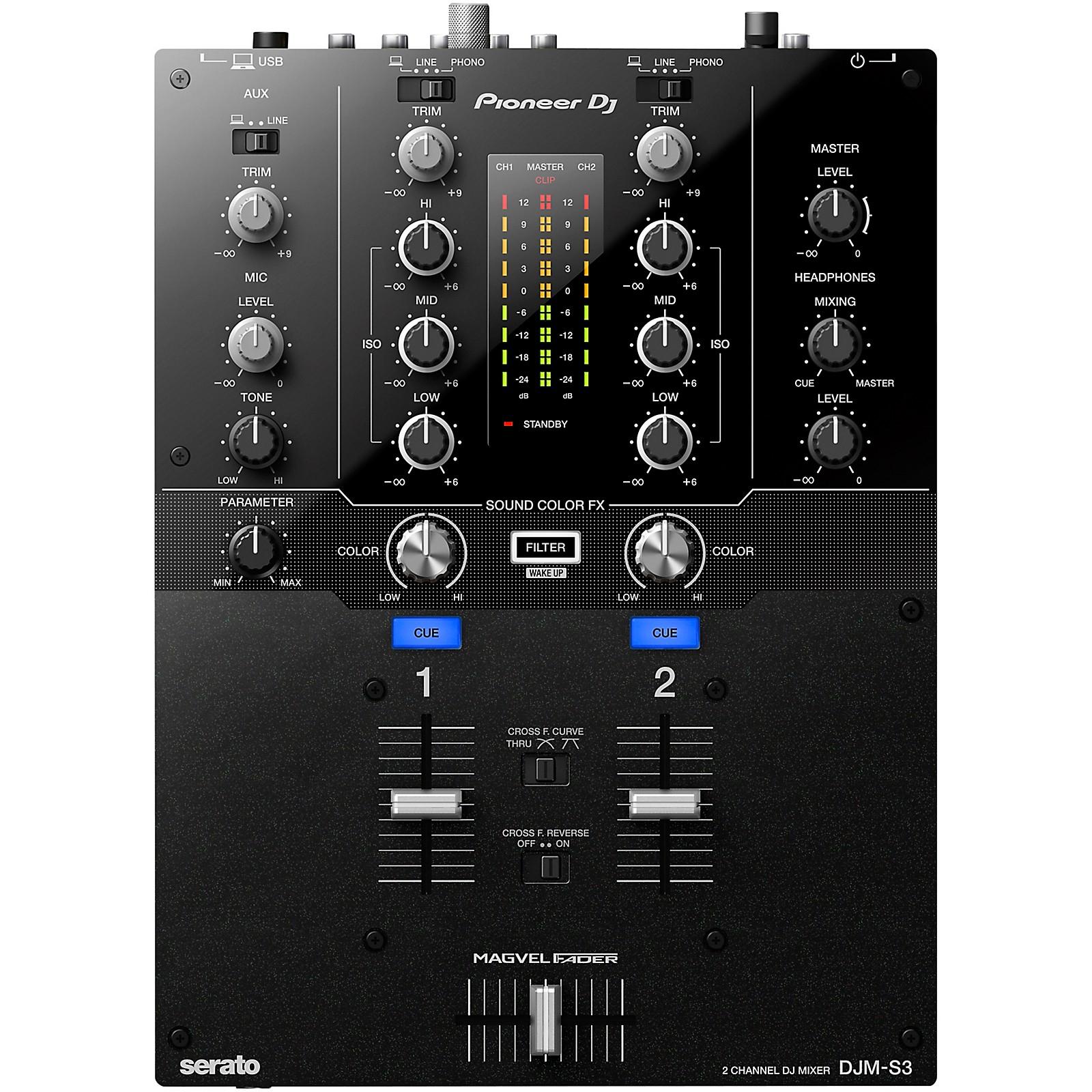 Pioneer DJM-S3 2-channel Serato DJ Battle Mixer
