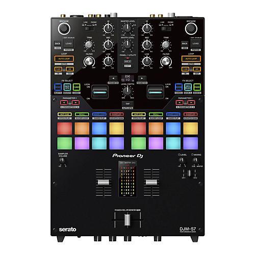 Pioneer DJ DJM-S7 2-Channel Battle Mixer for Serato DJ & rekordbox With Performance Pads