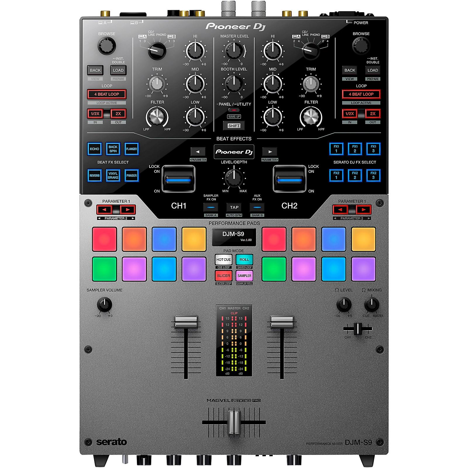 Pioneer DJM-S9 Limited Edition Silver 2-Channel Battle Mixer for Serato DJ Pro