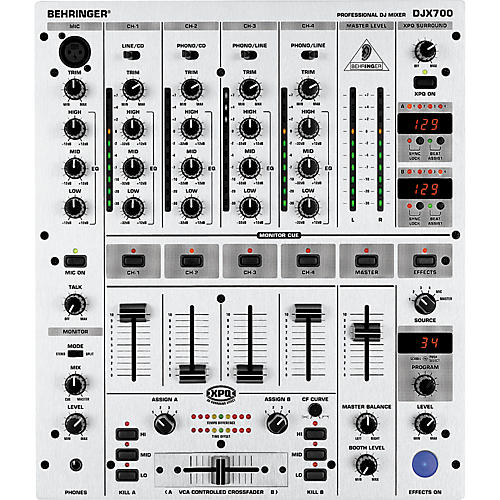 behringer djx700 5 channel pro dj mixer with digital effects and bpm counter musician 39 s friend. Black Bedroom Furniture Sets. Home Design Ideas