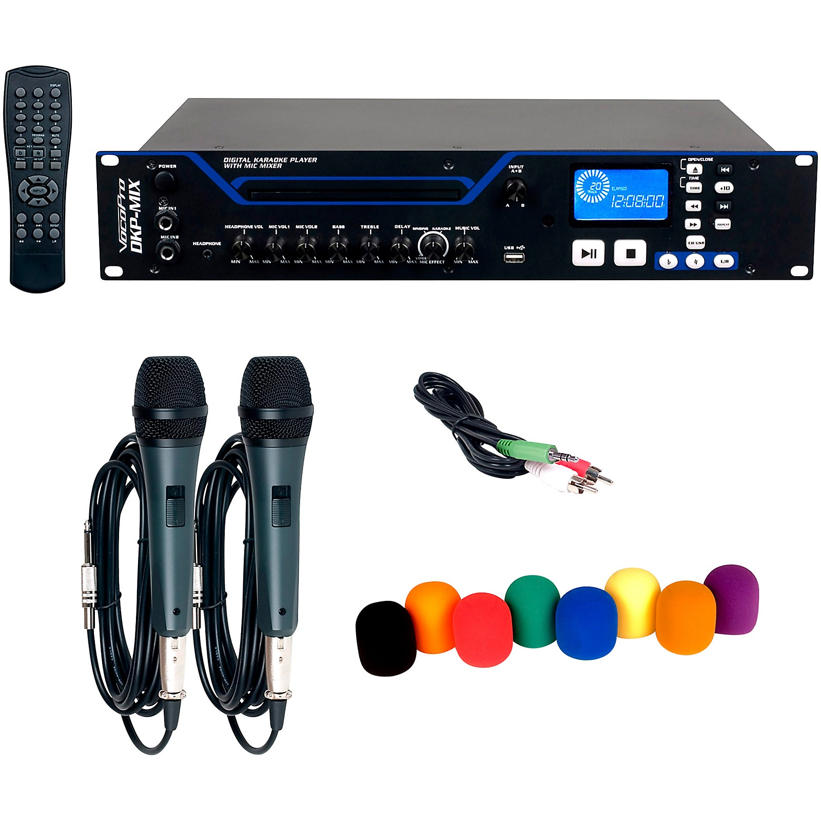 VocoPro DKP-MIX PLUS Digital Karaoke Player with Mixer, Microphone and Windscreen