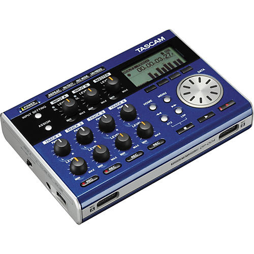 tascam dp 004 portable 4 track digital recorder ltd edition blue musician 39 s friend. Black Bedroom Furniture Sets. Home Design Ideas