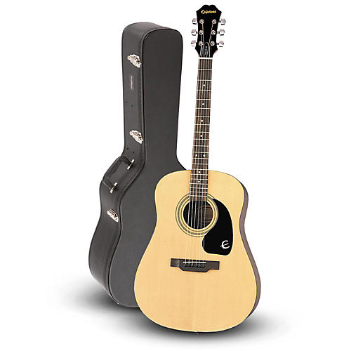 Epiphone DR-100 Acoustic Guitar Natural with Road Runner RRDWA Case