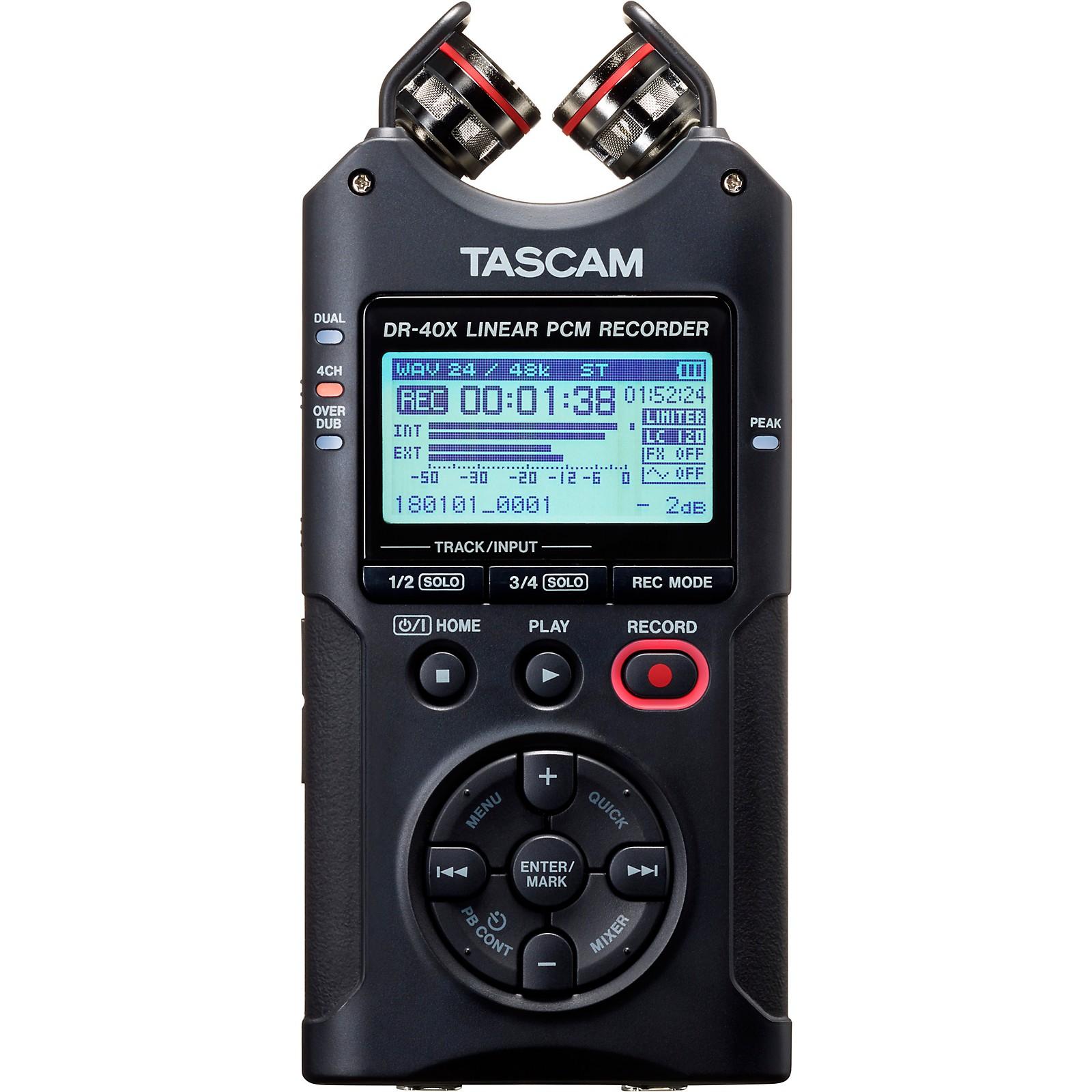 Tascam DR-40X Portable Digital Recorder