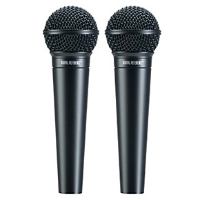 digital reference drv100 dynamic cardioid handheld mic two pack musician 39 s friend. Black Bedroom Furniture Sets. Home Design Ideas