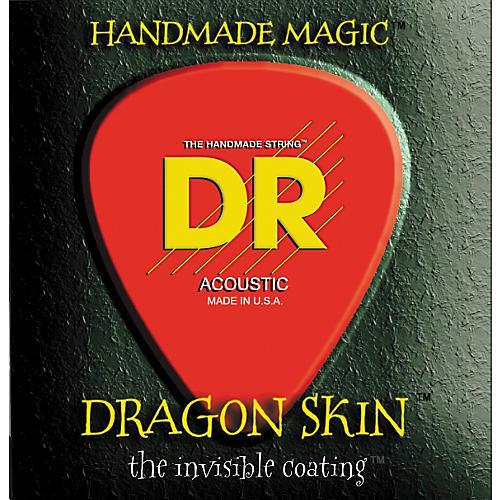 DR Strings DSA-12 Dragon Skin Coated Medium Acoustic Guitar Strings 3-Pack