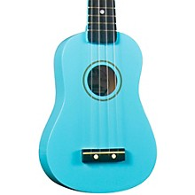 DU-10 Soprano Ukulele Light Blue Black Fingerboard