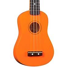 DU-10 Soprano Ukulele Orange Black Fingerboard