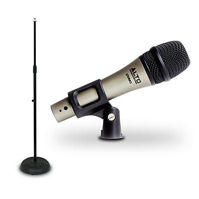 Alto DVM5 Handheld Dynamic Microphone And Mic Stand Package