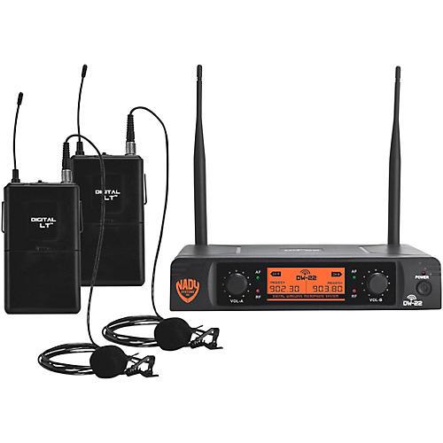 Nady DW-22 LT 24 bit Digital Dual Lapel Wireless Microphone System Condition 1 - Mint