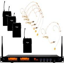 DW-44 Quad Digital Wireless System with Wireless Headset Microphone Beige
