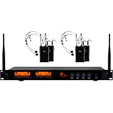DW-44 Quad Digital Wireless System with Wireless Headset Microphone Black