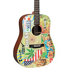 Martin DX420 Robert Goetzl Illustrated Dreadnought Acoustic-Electric Guitar