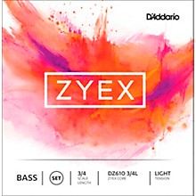 D'Addario DZ610 Zyex 3/4 Bass String Set