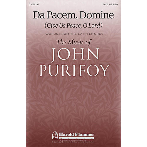 Shawnee Press Da Pacem, Domine (Give Us Peace, O Lord) SATB composed by John Purifoy