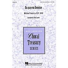 Hal Leonard Da pacem Domine 4 Part Any Combination arranged by John Leavitt