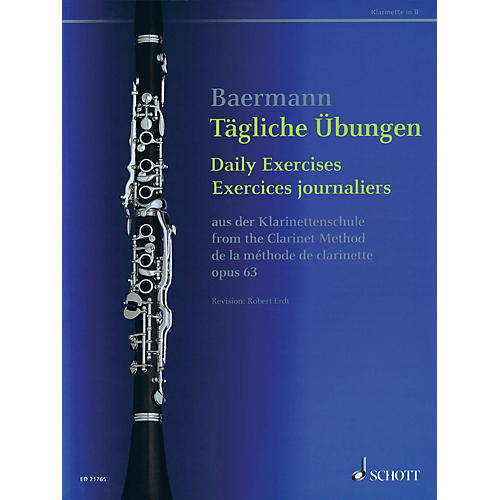 Schott Daily Exercises, Op. 63 (from The Clarinet Method) Woodwind Series Softcover