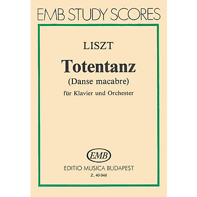 Editio Musica Budapest Dance Macabre for Piano and Orchestra (Score) EMB Series by Franz Liszt