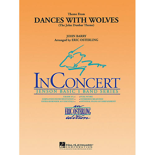 Hal Leonard Dances with Wolves (Main Theme) Concert Band Level 1 Arranged by Eric Osterling