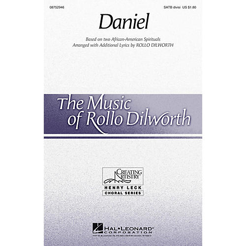 Hal Leonard Daniel SATB Divisi arranged by Rollo Dilworth