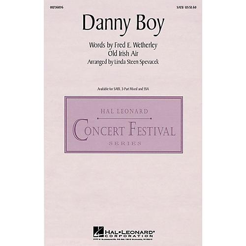 Hal Leonard Danny Boy SATB arranged by Linda Spevacek