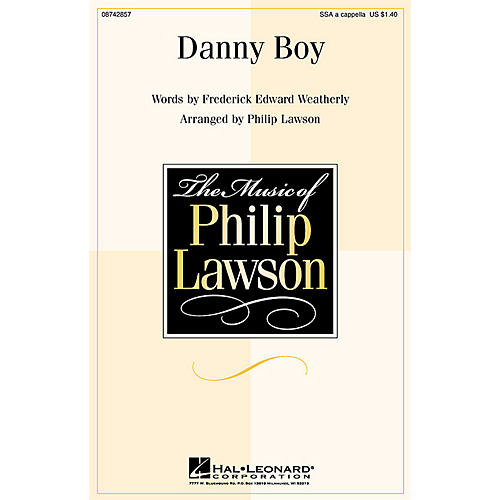 Hal Leonard Danny Boy SSA A Cappella arranged by Philip Lawson