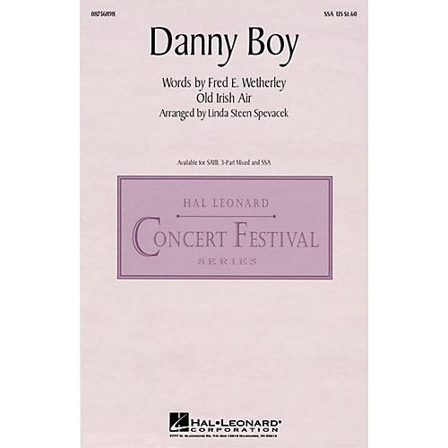 Hal Leonard Danny Boy SSA arranged by Linda Spevacek