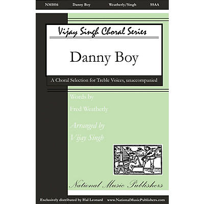 National Music Publishers Danny Boy SSAA A Cappella arranged by Vijay Singh