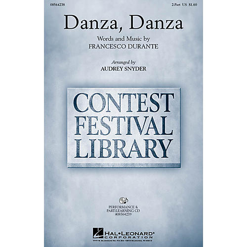 Hal Leonard Danza, Danza 2-Part arranged by Audrey Snyder