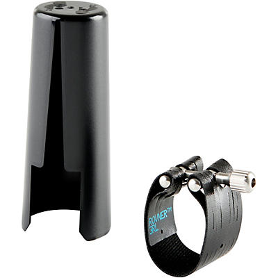 Rovner Dark Bass Clarinet Ligature and Cap
