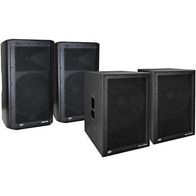 Peavey Dark Matter DM 112 Powered Speaker and DM115 Sub Pair