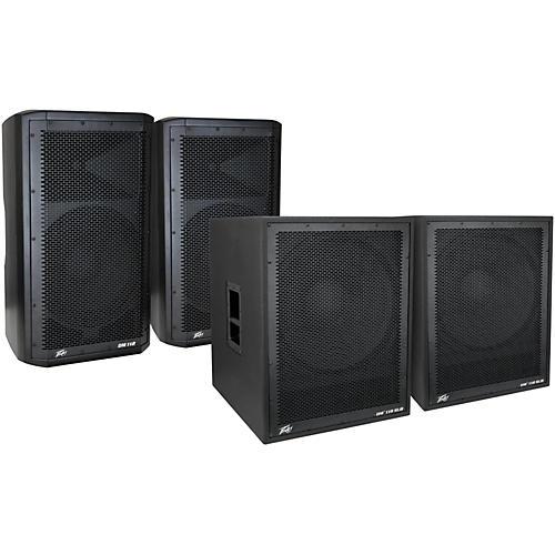 Peavey Dark Matter DM 112 Powered Speaker and DM118 Sub Pair