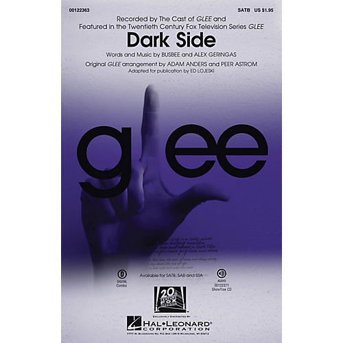Hal Leonard Dark Side ShowTrax CD by The Cast of GLEE