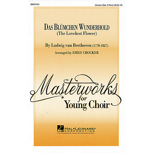 Hal Leonard Das Blümchen Wunderhold (The Loveliest Flower) UNIS/2PT arranged by Emily Crocker