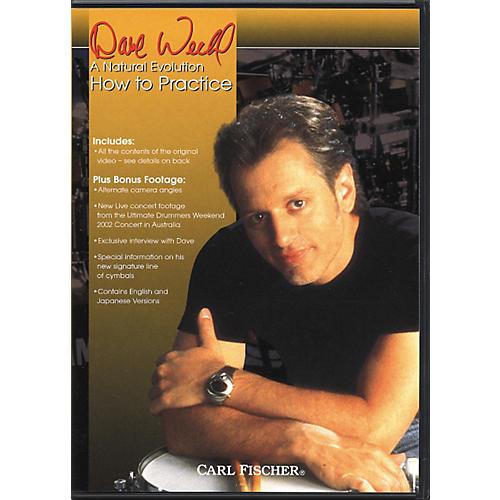 Carl Fischer Dave Weckl How to Practice Drum DVD