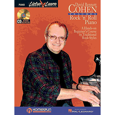 Homespun David Bennett Cohen Teaches Rock'n'Roll Piano Keyboard Instruction Softcover with CD by David Bennett Cohen