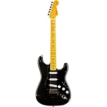David Gilmour Signature Stratocaster Electric Guitar Relic Black Over 3-Tone Sunburst