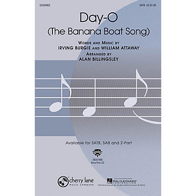 Cherry Lane Day-O (The Banana Boat Song) 2-Part Arranged by Alan Billingsley