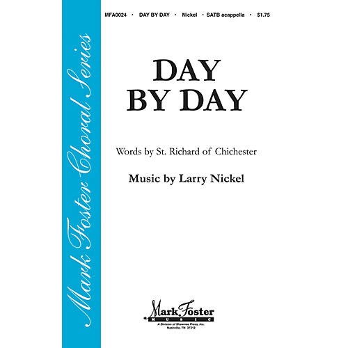 Shawnee Press Day by Day SATB a cappella composed by St. Richard of Chichester