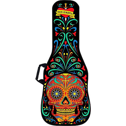 Day of the Dead Electric Guitar Bag w/ Graphic Face Panel
