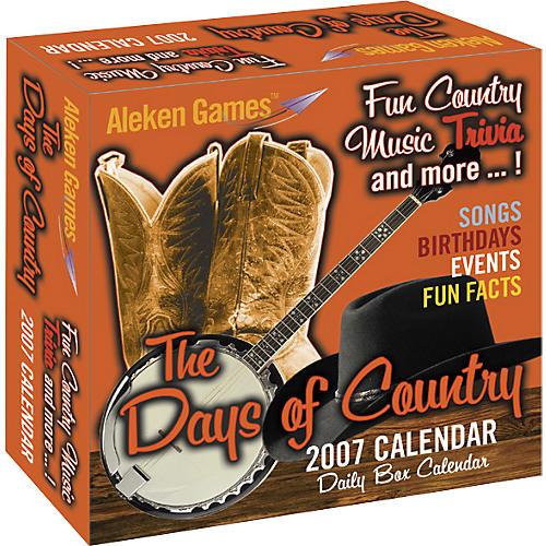 Aleken Games Days of Country 2007 Daily Calendar