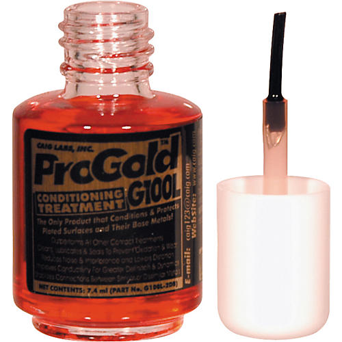 CAIG DeOxit Gold Liquid 7.4mL Brush Applicator